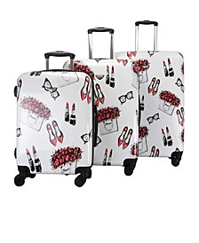 Colorwave Collection Artown Hardside Spinner Luggage- 3 Piece Set
