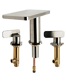 "Brushed Nickel Two-Handle 8"" Widespread Bathroom Faucet"