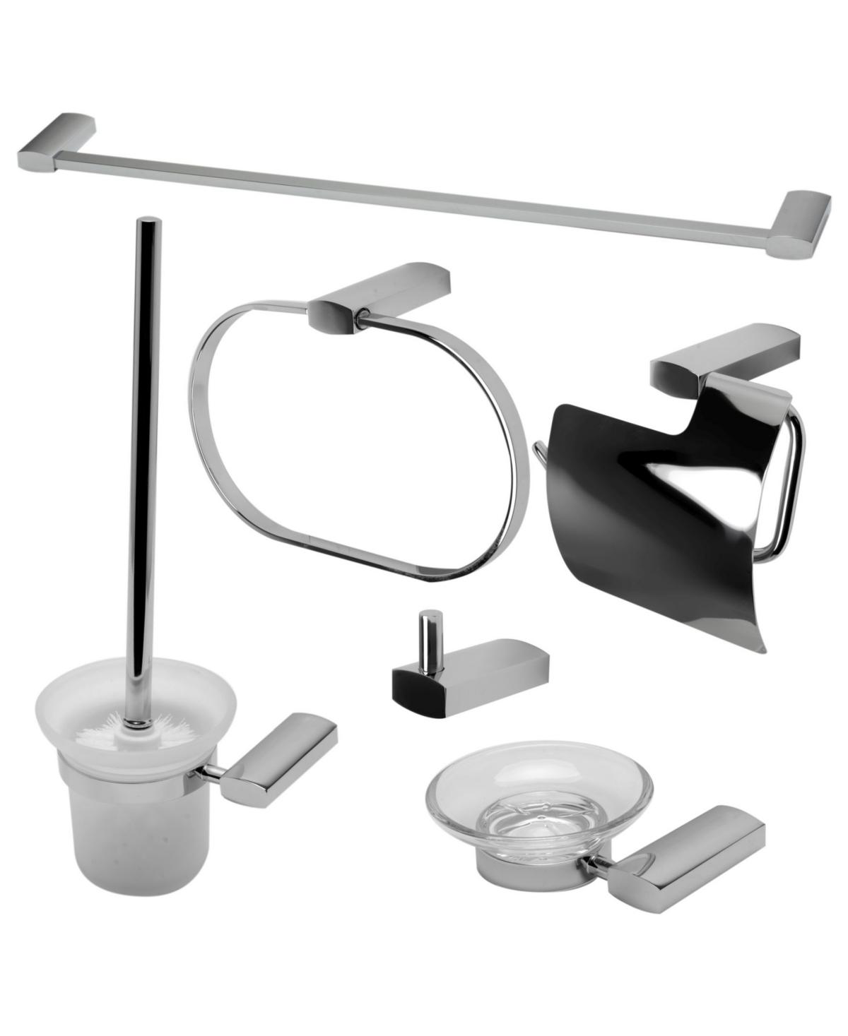 Alfi brand Polished Chrome Matching Bathroom Accessory Set, 6 Piece Bedding