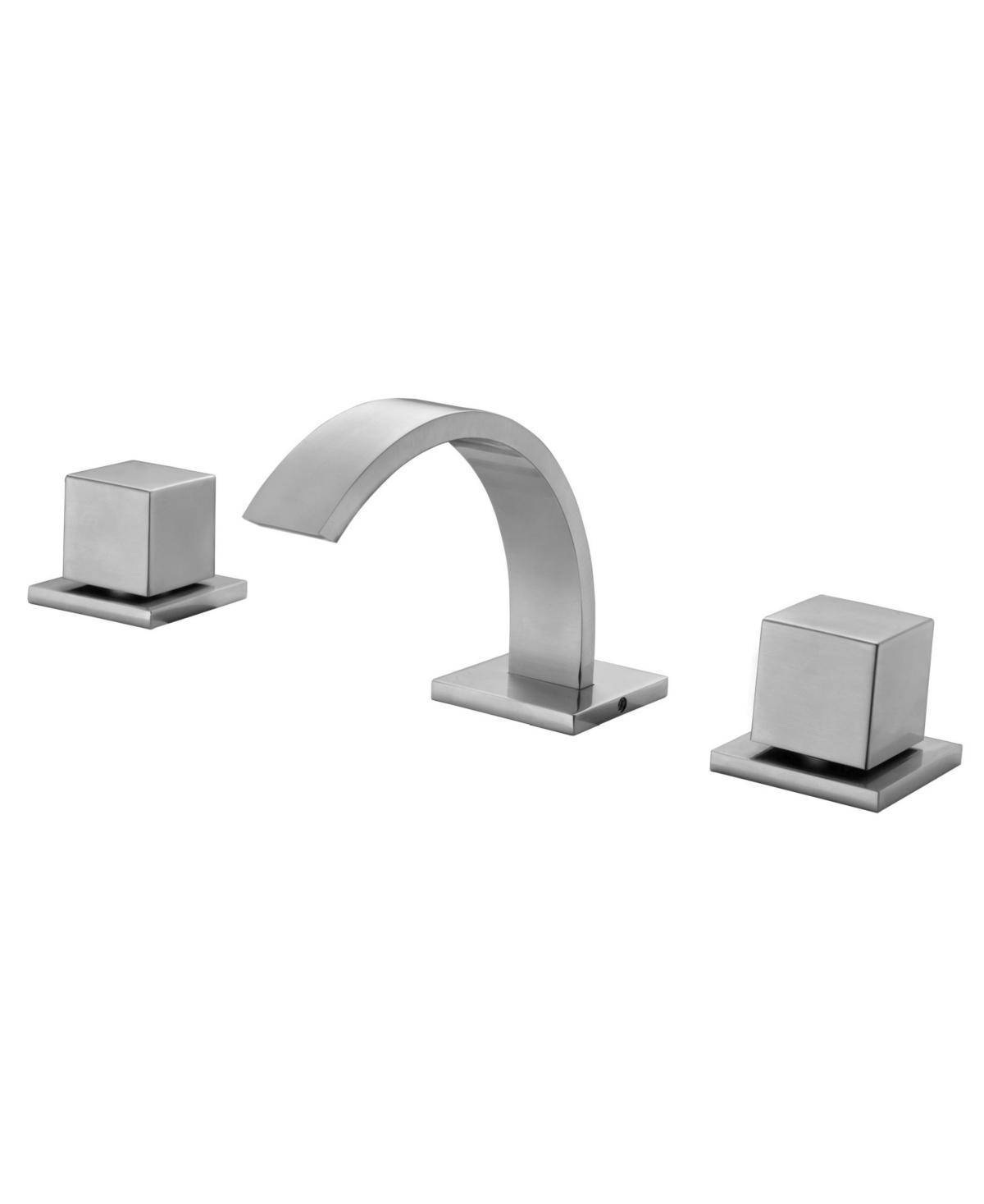 Alfi brand Brushed Nickel Modern Widespread Bathroom Faucet Bedding