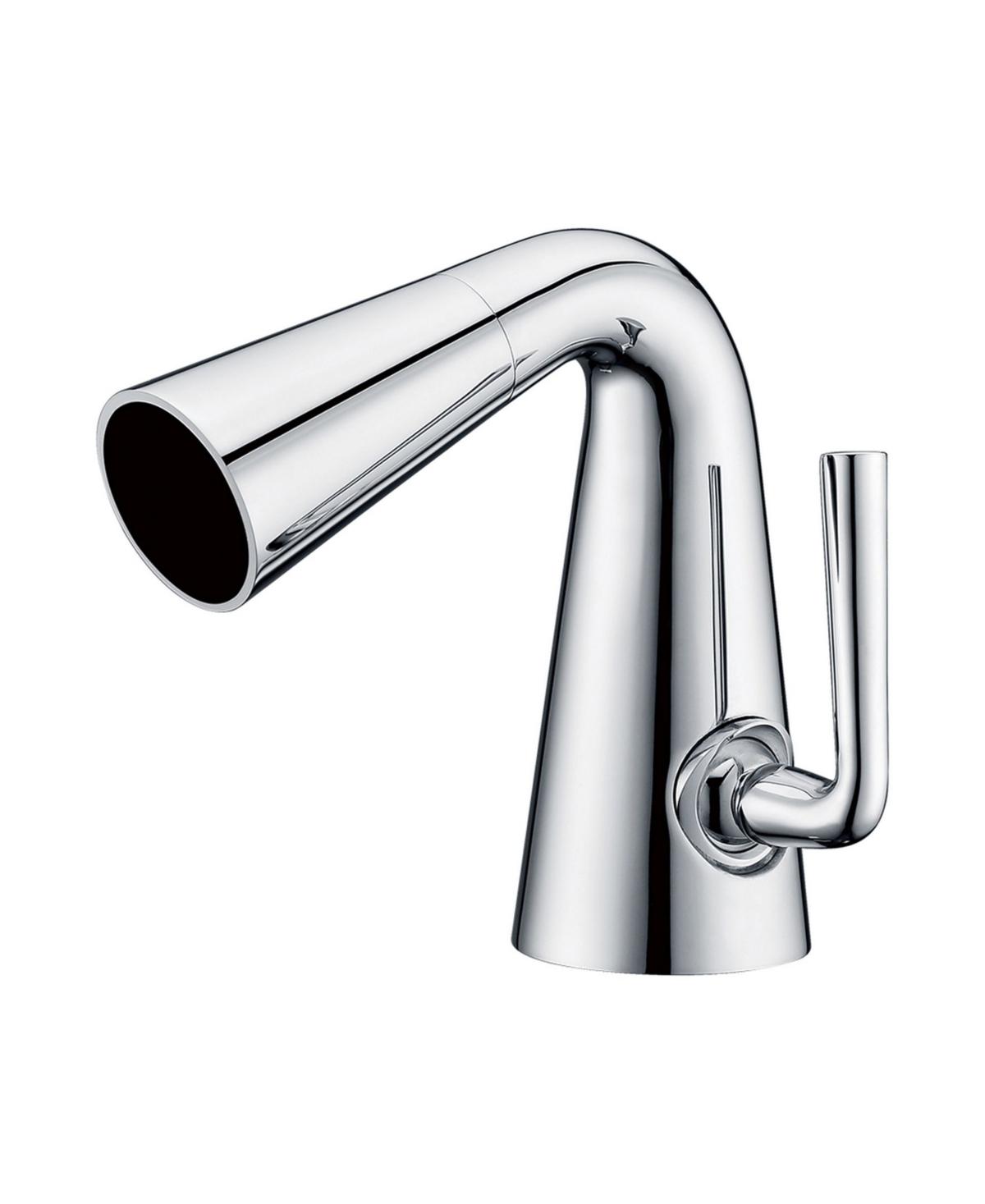 Alfi brand Polished Chrome Single Hole Cone Waterfall Bathroom Faucet Bedding