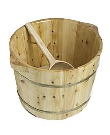 Round Wooden Cedar Foot Soaking Tub