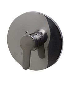 Brushed Nickel Shower Valve Mixer with Rounded Lever Handle