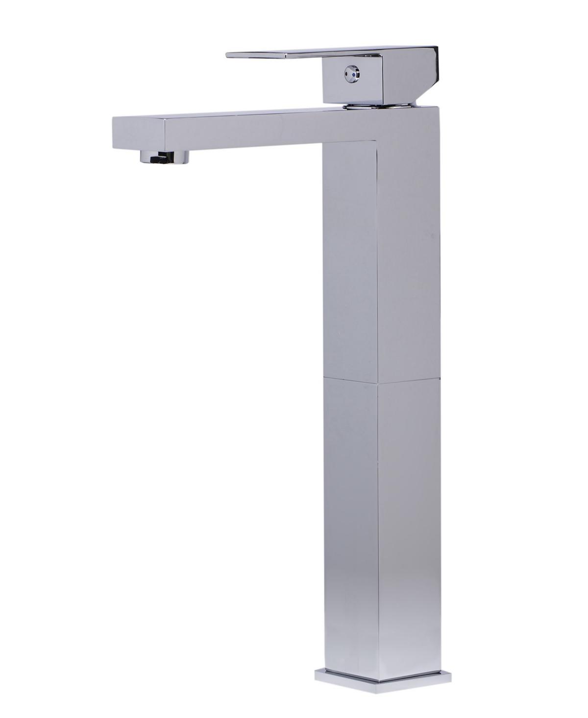 Alfi brand Polished Chrome Tall Square Single Lever Bathroom Faucet Bedding