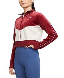 Women's Sportswear Velour Colorblocked Jacket