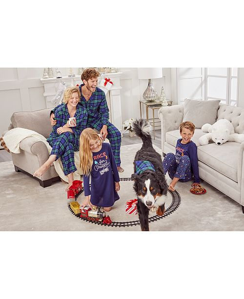 Family Pajamas Matching Race For Presents and Plaids, Created For Macy's