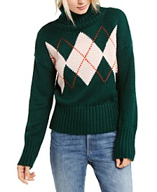 Argyle Turtleneck Sweater