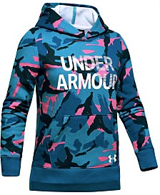 Under Armour Big Girls Rival Fleece Wordmark Hoodie
