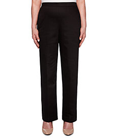 Alfred Dunner Street Smart Stretch Straight-Leg Pull-On Pants