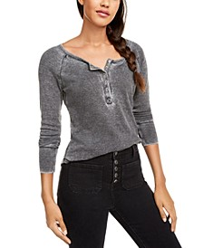 Juniors' Burnout Henley Top