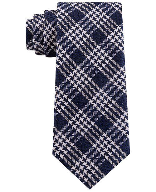 Sean John Men's Classic Textured Pinwheel Check Silk Tie