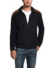 Men's Full-Zip Swacket with Suede Patches