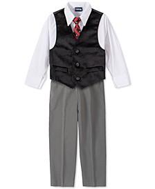 Toddler Boys 4-Pc. Velvet Vest Set