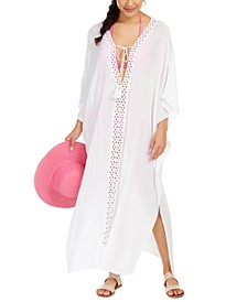 Crochet-Trimmed Cover-Up Maxi Dress
