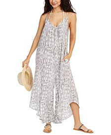 Printed Flowy Cover-Up Jumpsuit
