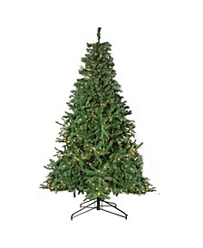 12' Pre-Lit 2-Tone Canadian Pine Commercial Artificial Christmas Tree - Warm White Lights
