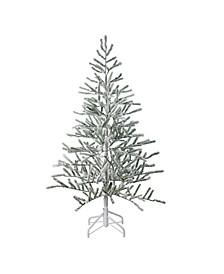 5' Flocked Alpine Twig Artificial Christmas Tree - Unlit