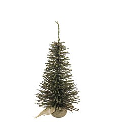 3' Warsaw Twig Artificial Christmas Tree with Burlap Base - Unlit