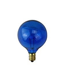 Pack of 25 Incandescent G40 Blue Christmas Replacement Bulbs