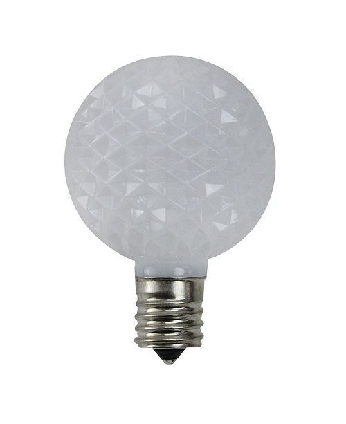 Northlight Pack of 25 Faceted LED G50 White Christmas Replacement Bulbs