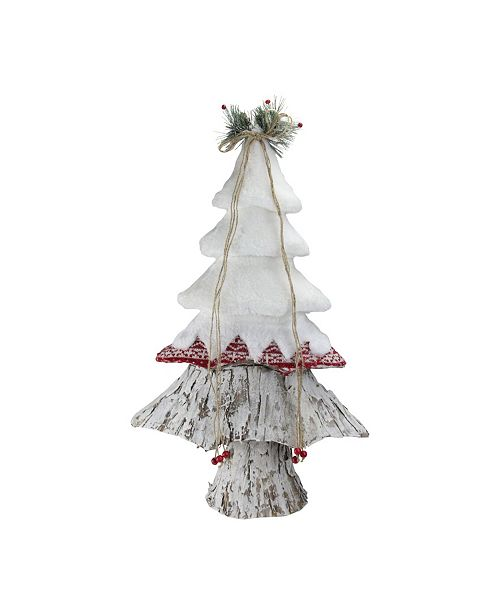 "Northlight 22"" White Red and Brown Christmas Tree Decoration"