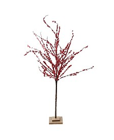 """50"""" Festive Red Berries Artificial Christmas Tree Decoration - Unlit"""