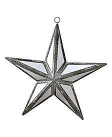 "5.75"" Mirrored Five Point Star Christmas Ornament"
