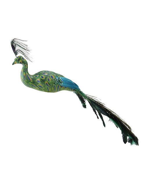 """Northlight 3.5"""" All Eyes on Me Green and Teal Decorative Peacock Bird Clip-On Christmas Ornament"""