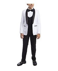 Toddler Boy's 5-Piece Slim Fit Shawl Tuxedo Set