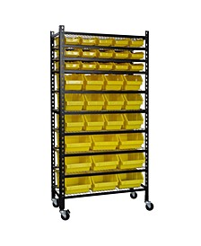Mobile Bin Shelving Rack