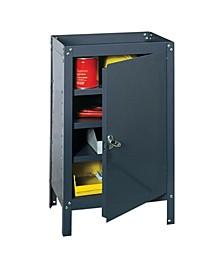 Industrial Gray Steel Cabinet