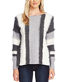 Colorblocked Loop-Stitch Sweater
