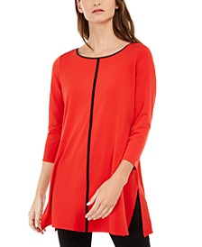 Petite Piped Tunic, Created For Macy's