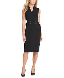 Buttoned Sheath Dress