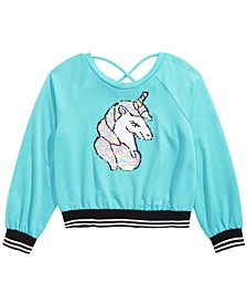 Big Girls Flip Sequins Unicorn Top
