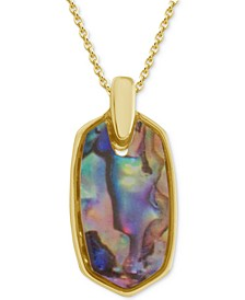 "Simulated Shell Oblong 18"" Pendant Necklace"