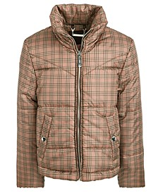 Big Girls Hooded Plaid Jacket