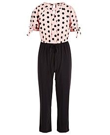 Big Girls Polka-Dot Jumpsuit