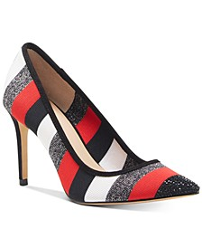 INC Women's Khari Striped Knit Pumps, Created for Macy's