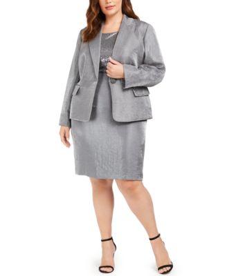 Plus Size Metallic Pencil Skirt