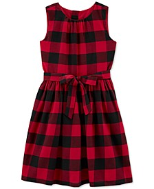 Big & Little Girls Buffalo-Check Dress