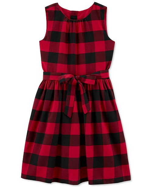 Carter's Big & Little Girls Buffalo-Check Dress