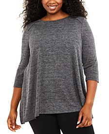 Plus Size Crew-Neck Nursing Top