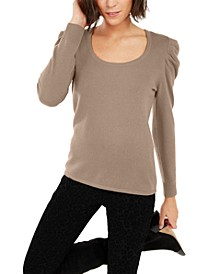 INC Cashmere Puff-Sleeve Sweater, Created For Macy's