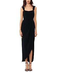 XSCAPE Double-Strap Gown