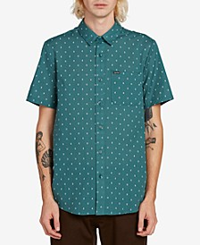Men's Printed Short Sleeve Woven Shirt