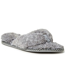 Women's Fuzzy Thong Slippers, Online Only