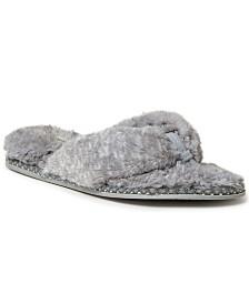 Dearfoams Women's Fuzzy Thong Slipper, Online Only