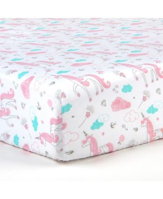 2 Piece Microfiber Crib Fitted Sheet Set