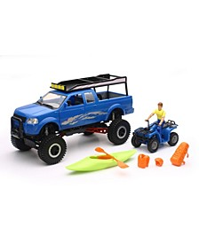 New Ray Xtreme Off Road Wheeled Pickup Truck Playset